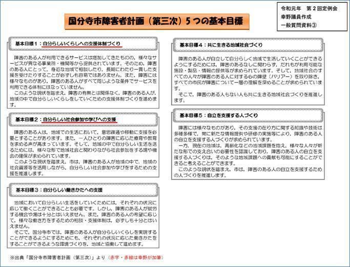 パネル�B国分寺市障害車計画(第三次)5つの基本目標.jpg